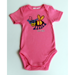 BABY Short Sleeved (S/S) Onesie Deep Pink Bee