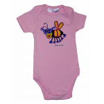 BABY Onesie Short Sleeved (S/S)  Light Pink Bee