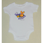 Baby Onesie White Short Sleeve Bee
