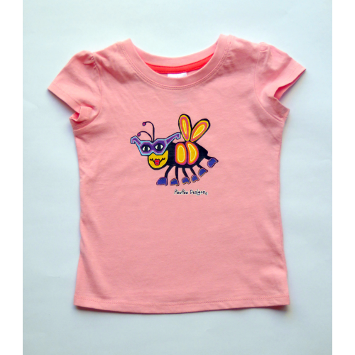 89b7513729a KIDS T-Shirt Pink Bee - PawPaw Designs Kids Baby Adult Cotton Tops ...