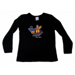 KIDS Long Sleeved (L/S) Top Black Bee