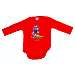 Baby Onesie Red Long Sleeve Billie