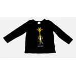 KIDS Long Sleeved (L/S) Top Black Giraffe