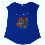 Women's T-Shirt Blue Building