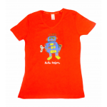 Women's T-Shirt Orange Robot