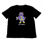 Women's T-Shirt Black Robot