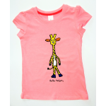 KIDS Short Sleeved (S/S) T-Shirts Pink  Giraffe